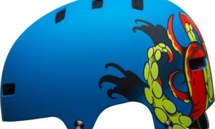 Bell Span – Cykel- og skaterhjelm – Mat blå med motiv