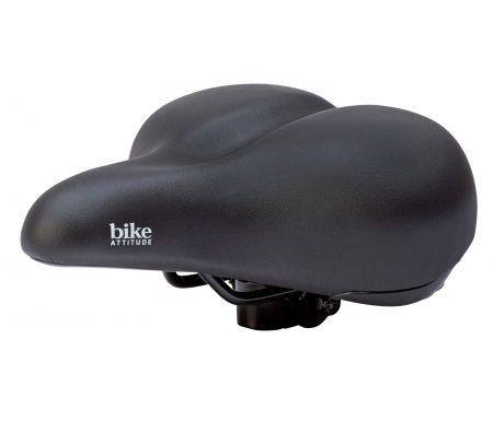 Bike Attitude – Cykelsadel – komfort med elastomer – Unisex D1 base – Sort