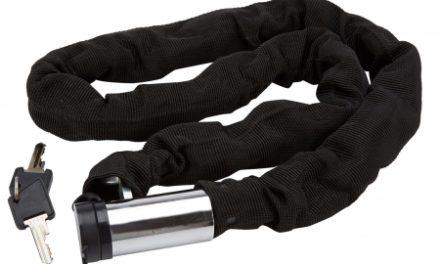 Bike Attitude – Kædelås – 8 mm x 100 cm – Sort – med nøgle og aflang låsehus