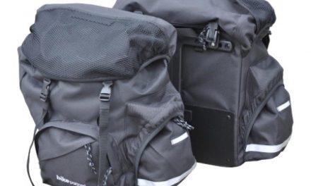 BikePartner – Malene – Cykeltaskesæt til bagagebærer – Sort – 2 delt