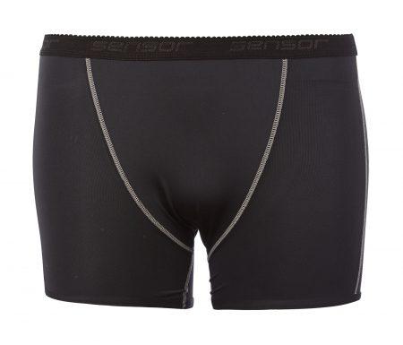 Boxer shorts til damer – Sensor Coolmax Fresh – Sort