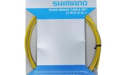 Bremsekabel sæt PTFE gul til Racer/Sportscykler
