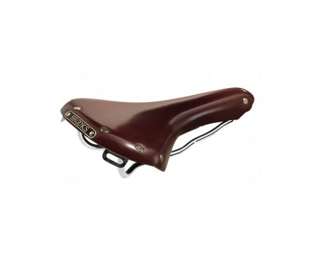 Brooks cykelsadel B15 Swallow Chrome – Antik brun læder – Herre