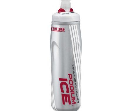 Camelbak Podium Ice – Drikkeflaske 0,62 liter – 100% BPA fri – Sølv/Rød