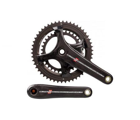 Campagnolo Super Record – Kranksæt TI Carbon 36/52 tands 2 x 11 gear – 172,5mm pedalarme
