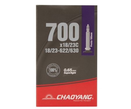Chaoyang Superlight slange – 700×18-23c – 100mm racerventil