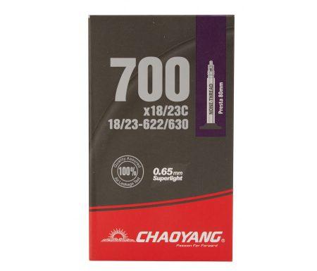 Chaoyang Superlight slange – 700×18-23c – 80mm racerventil