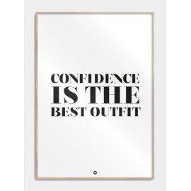 Confidence plakat fra Citatplakat