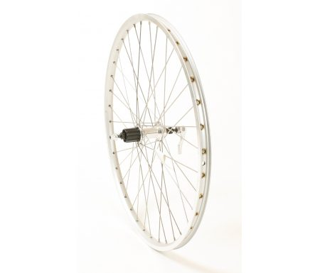 Connect MTB baghjul – 26 x 1.75 – 7 gear – Ryde ZAC 19  fælg – Sølv