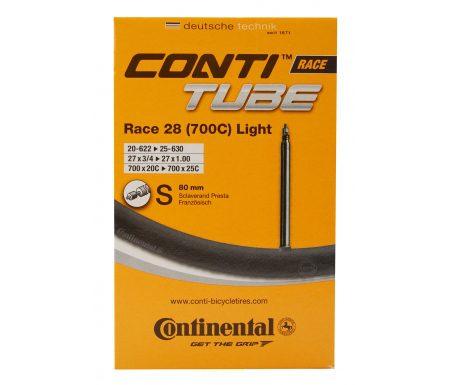 Continental Race 28 Light – Cykelslange – Str. 700×20-25c – 80 mm racerventil