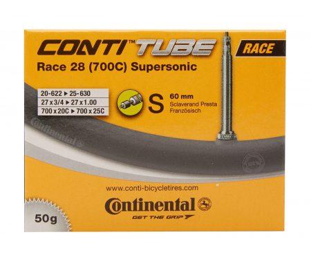 Continental Race 28 Supersonic – Cykelslange – Str. 700×20-25c – 60 mm racerventil