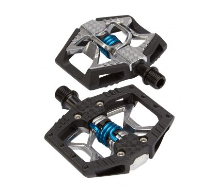 Crankbrothers Double Shot – MTB kombipedal – Grå/sort/blå