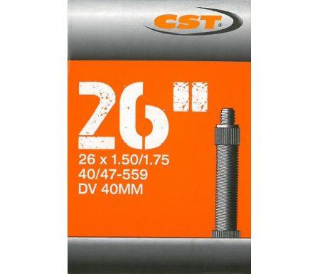 CST Slange – 26 x 1,50-1,75 – Almindelig ventil