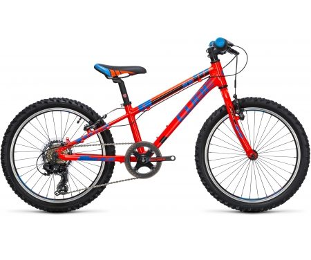 "Cube Kid 200 – 20"" MTB – 7 gear – Rød/blå/sort"