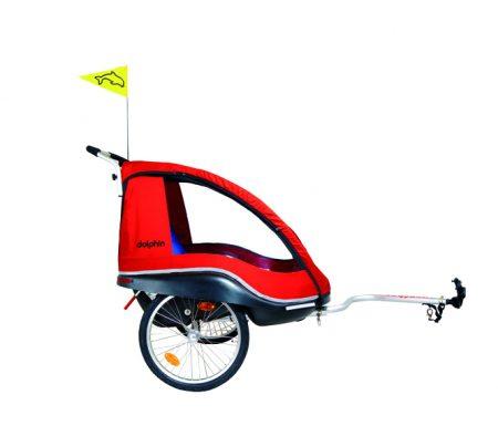Cykelanhænger til børn Winther Dolphin XL Weber rød