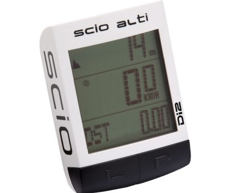 Cykelcomputer PRO SCIO Alti Ant+ Hvid med 23 funktioner