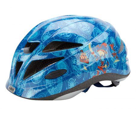 Cykelhjelm Abus Hubble med LED lys Blå pirat