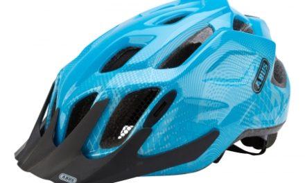 Cykelhjelm Abus MountX med LED lys Blå