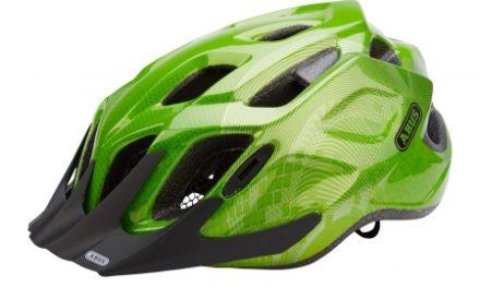 Cykelhjelm Abus MountX med LED lys Grøn