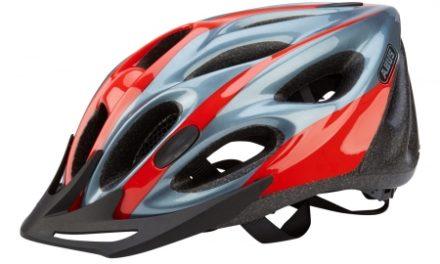 Cykelhjelm Abus Raxtor Zoom rød/sølv