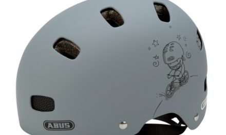 Cykelhjelm Abus Scraper Kid V.2 Str. 48-55 cm matgrå