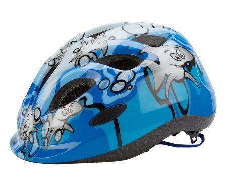 Cykelhjelm Abus Smiley Blå med motiv