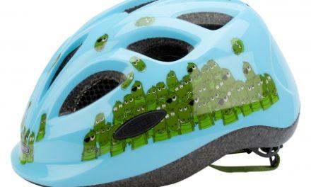 Cykelhjelm Abus Smiley Lyseblå/Grøn