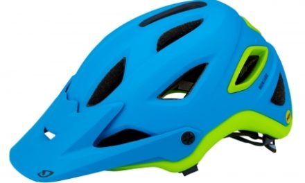 Cykelhjelm Giro Montaro MIPS – Mat blåt/lime