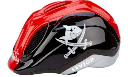 Cykelhjelm Levior Primo Licens med diodelys Rød/Sort