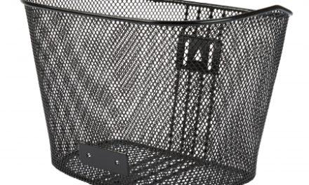 Cykelkurv Net sort til front uden stiver og beslag