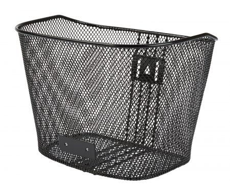 Cykelkurv Net sort til front med stiver og beslag