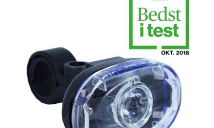 Cykellygte Smart Superflash hvid med batteri – Testvinder