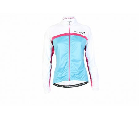 Cykeltrøje blå/hvid/pink Dame Model 1100