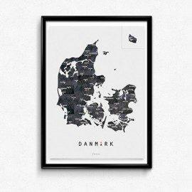 Martin Moore Danmark Hvid – Plakat fra Martin Moore