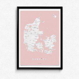 Martin Moore Danmark Rosa – Plakat fra Martin Moore