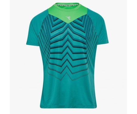Diadora – Bright SS T-shirt – Løbe t-shirt – Herre – Turkis/grøn