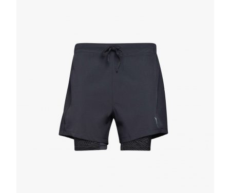Diadora – Double Layer Bermuda – Løbeshorts – Sort