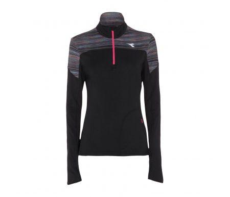 Diadora – L. Warm Up T-shirt Win – Løbebluse – Dame – Sort