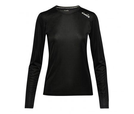 Diadora L. X-Run LS T-Shirt – Lange Ærmer Dame – Sort
