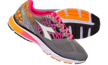 Diadora – Mythis Blushield Bright – Løbesko – Dame – Grå/Orange/Pink