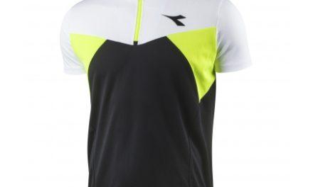 Diadora Siena Jersey – Cykeltrøje med korte ærmer – Hvid/sort/neon gul