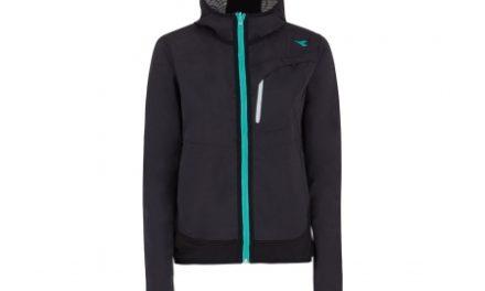 Diadora vendbar løbejakke – Dame – L. Reversible Wind Jacket – Sort