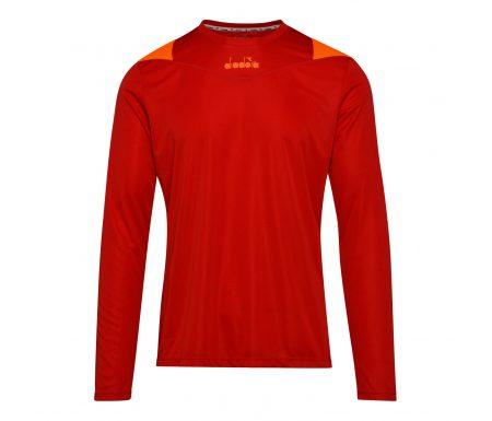 Diadora X-Run LS T-Shirt – Lange Ærmer Herre – Rød
