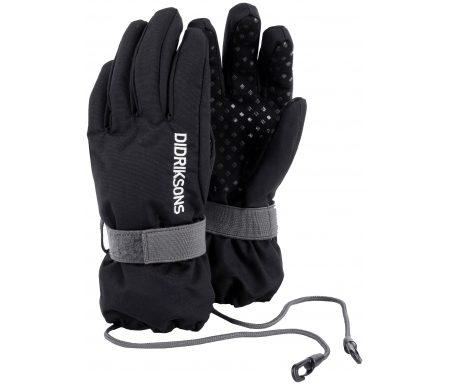 Didriksons Biggles Five Kids Gloves – Handske Børn – Sort