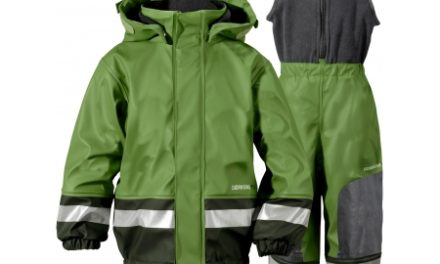 Didriksons Boardman Kids Set – Fleeceforet regntøj – Grøn