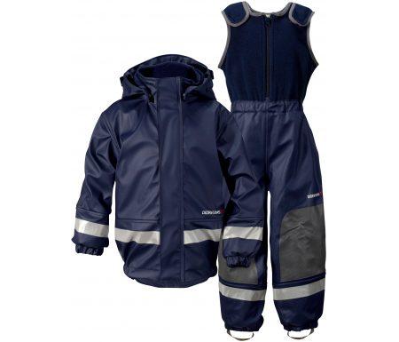 Didriksons Boardman Kids Set – Fleeceforet regntøj – Navy