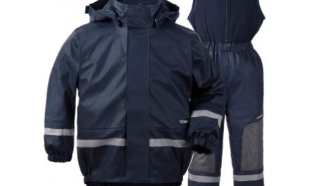 Didriksons Boardman Kids Set – Fleeceforet regntøj – Navy
