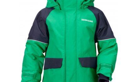 Didriksons Ese Kids Jacket – Vandtæt børnejakke m. for – Grøn
