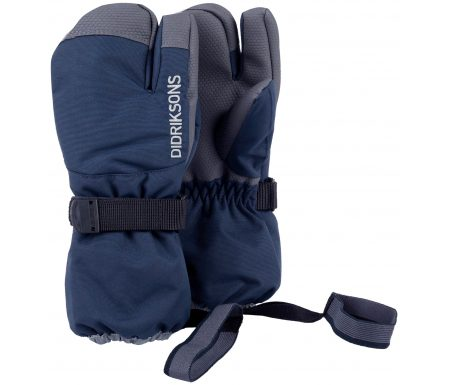 Didriksons Fossa Kids Three-Finger Gloves – Handske Børn – Navy
