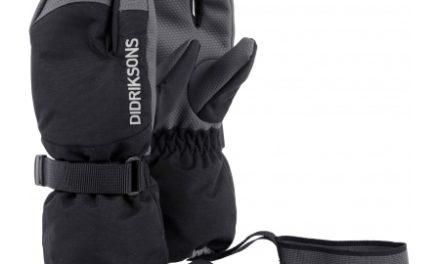 Didriksons Fossa Kids Three-Finger Gloves – Handske Børn – Sort